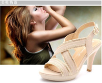 Roman style sandals fashion hollow Czech diamond sandals hig...