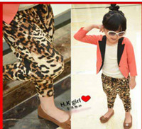 Wholesale girls pp pant kids Harem Pants leopard designed fashionable pant girl s trousers baby leisure pant