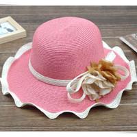 1#2#3# natural straw hat - Womens Natural Straw Hat Ladies Hats Sun Hat Ladies Wide Brim Hat Straw Beach Hats Caps Summer Hats