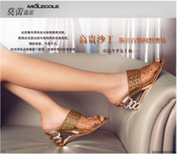 Women's Sexy Translucent gauze sandals diamond Decoration fa...