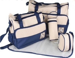 Wholesale Fashion multifunctional nappy bag mummy bag mother bag infanticipate bag Buy get free