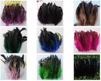 Wholesale Multicolor green light feather cm hair feather synthetic rooster grizzly feather hair extension
