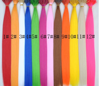 Wholesale 18 solid color single color synthetic rooster grizzly feather hair extension