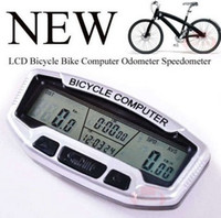 Wholesale Tracking Number New Waterproof Bicycle Bike Digital LCD Computer Odometer Speedometer