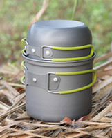 Wholesale Camping Cookware aluminium alloys picnic tablewear Cooking set Picnic pot pan wholesal