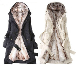 Wholesale 2012 Hot sell New Hooded Women s Fur Winter With Faux Fur Ling Long Coat Outerwear