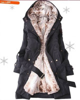 Wholesale Hot sell Fashion New Hooded Women s Fur Winter With Faux Fur Ling Long Coat Outerwear