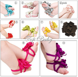 Wholesale 20 Top Baby crochet flower styles baby Foot ornamentsbaby Foot flowers baby Foot decoration