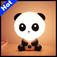 Wholesale ABS Lovely Kungfu Panda Desk Lamp Table Lamp Cartoon Night Light Birthday Gifts LE11B