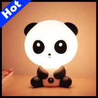Wholesale ABS Lovely Kungfu Panda Desk Lamp Table Lamp Cartoon Night Light Birthday Gifts LE11B