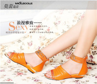 Fashion wome's sandals Low heel diamond hollow flat sole san...