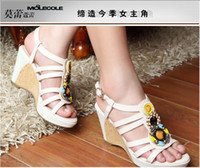 women's Roman style sandals fashion hollow Czech diamond san...