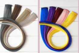 Wholesale The color picks to dye a false hair slice heat silk long keep a hair slice