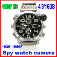 Wholesale New Micro dvr P hd hidden camera spy watch Waterproof Compass GB