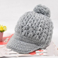 Wholesale M1110201 New Lady s caps knit hat winter caps knit visor winter caps hats winter hat adult hats