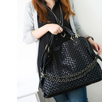 Wholesale 1pcs Fashion Korean Style Women s Pleated PU Leather Handbag Shoulder Bag BG176