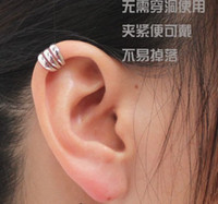 Wholesale Promotion Ear Cuff Delicate Non pierced ears Earring Jewelry Golden Silvery