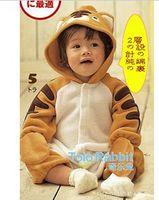 Wholesale Baby romper Yellow tiger shape Romper One Piece Rompers Sleepwear Bodysuit Pyjamas jumper sets