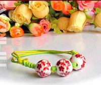 Wholesale Factory Hand Woven Rope Ceramic Beads National Wind Low Price j