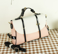 Wholesale Cute Candy color belt portable adornment shoulder bags handbags women s Messenger bag