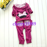 Wholesale 3 colors Girls Tracksuits Girls Hoody pants Tracksuit Children sweat suits Girls jogging suits