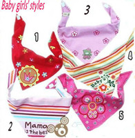 Wholesale Baby Bibs design mixed boys girls cotton bibs fashion baby scarves