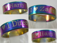 Gift job lots - 24PCS STAINLESS STEEL ONE DIRECTION RINGS D LIAM HARRY ZAYN NIALL LOUIS JEWELRY JOB