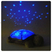Wholesale HOT Brand New Fun Lamp Turtle Light Twilight Sea Turtle Night light lamp projector Twilight Turtle