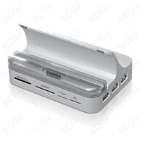 Wholesale All in One Docking Station HDMI HUB SYNC VAG for iPhone iPad iPad iPod