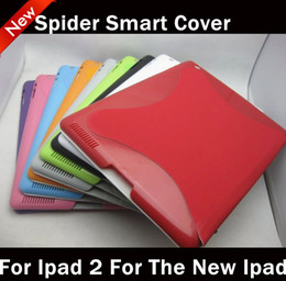 Wholesale Spider Smart Cover Case For ipad2 Magnetic Leather Smart Cover With wake up funtion for iPad2