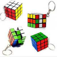 Wholesale Factory directly sales Keychain Rubik s cube x3x3cm Puzzle Magic Game Toy Key Keychain WJ01