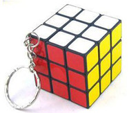 Wholesale DHL free Keychain Rubik s cube x3x3cm Puzzle Magic Game Toy Key Keychain WJ01