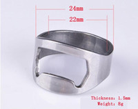 Wholesale 500PC DHL Stainless Steel Finger Ring Beer Bottle Opener mm mm mm mm