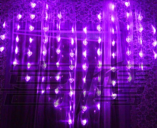 78 Led Lights 2m 1 6m Heart Shape Curtain Light Christmas