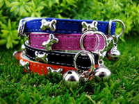 Chirstmas accessories dogs training - Charm Pet Dog Cat Training Lead Collar Animal Bell Accessories Adjustable cm Color V3401