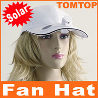 Wholesale Solar Powered cool Hat Cap with Cooling Fan for Outdoor Golf Baseball no batteries needed H8557W