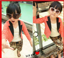 Wholesale girls suit kids jacket girl s Prep School Blazer easily matching little suit korea girls suit