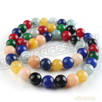 Wholesale Multicolor Jade Beads Gemstones Round Loose Smooth Bead mm Fit Jewelry DIY