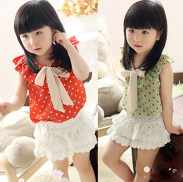 Wholesale Baby Girls pants kids children XK hollow lace skirt shorts girl pants B liy