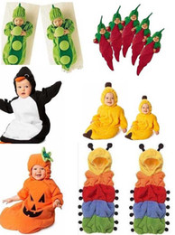 Wholesale 6styles Newborn Baby sleeping bag caterpillar pea banana penguin chilli Pumpkin sleeping bags