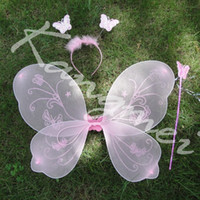 Wholesale Baby Wand Accessories Fairy Wings Nylon Butterfly For Babies Kids set