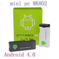 Wholesale Android Mini PC IPTV Google Internet TV Smart Box GB DDR3 RAM GB ROM Allwinner A10 MK802