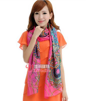 Wholesale Silk Scarf Bohemian Green Amorou Voile Personality Fashion New Style XAJ