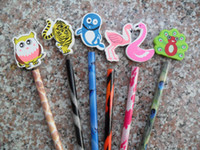 Wholesale Cartoon Pencils with Lovely Animal Fruit Car Novelty Gift Stationery Home Decoration Mix Order