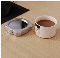 Wholesale Hot New USB Ports Hub Warm Coffee Cup Warmer Gadget Heater USB Gadgets
