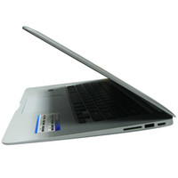 Wholesale 14 quot Air Ultrathin laptop Intel ATOM D2500 Dual core netbook compute pc DDR3 GB notebook silver