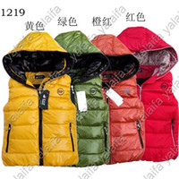 Wholesale 2012 Baby boy vest down coat with hoodies color for winter size