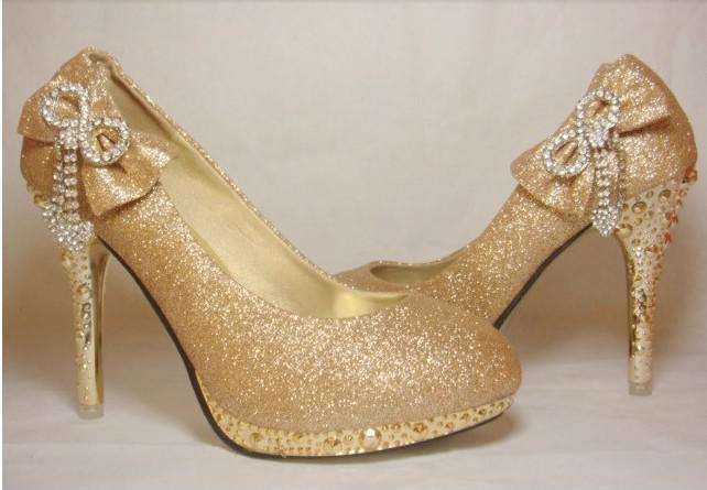 Images of Gold Wedding Shoes For Bridesmaids - Weddings by Denise