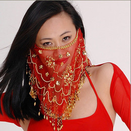 Wholesale Hand Made Fine Mesh Belly Dance Face Veils