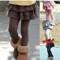 Wholesale girls leggings Children s skirt Girls Skirt pants Cake skirt kids baby warm fashion legging baby trousers